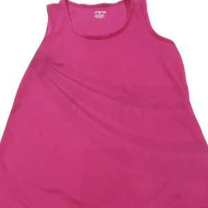 bcg athletic tank top pink with floral print